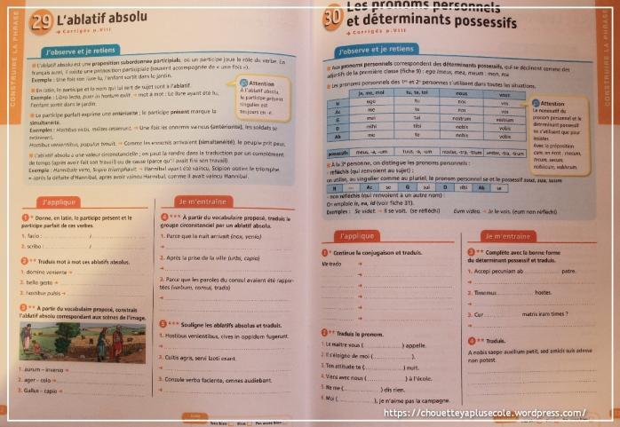 Cahier d'exercice Latin 5ème - chouette y a plus ecole
