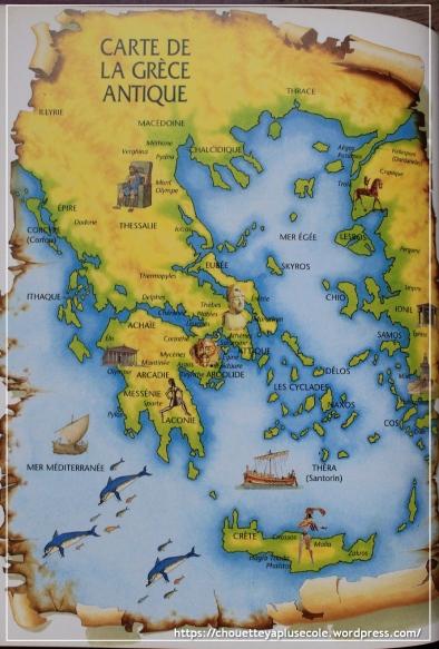 carte Grèce antique Usborne