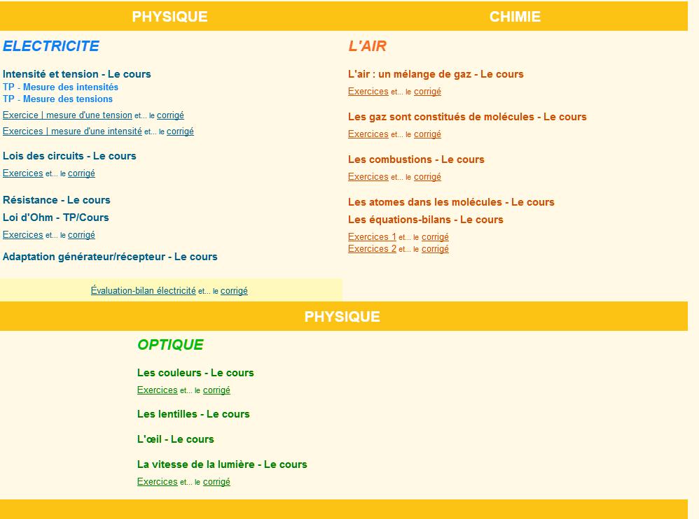 Physique-chimie 4ème - chouette y a plus ecole
