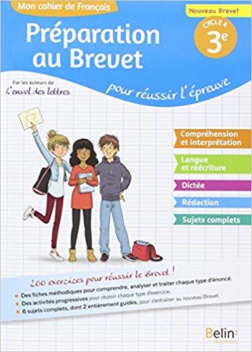 Mon Cahier De Francais 3 Preparation Au Brevet
